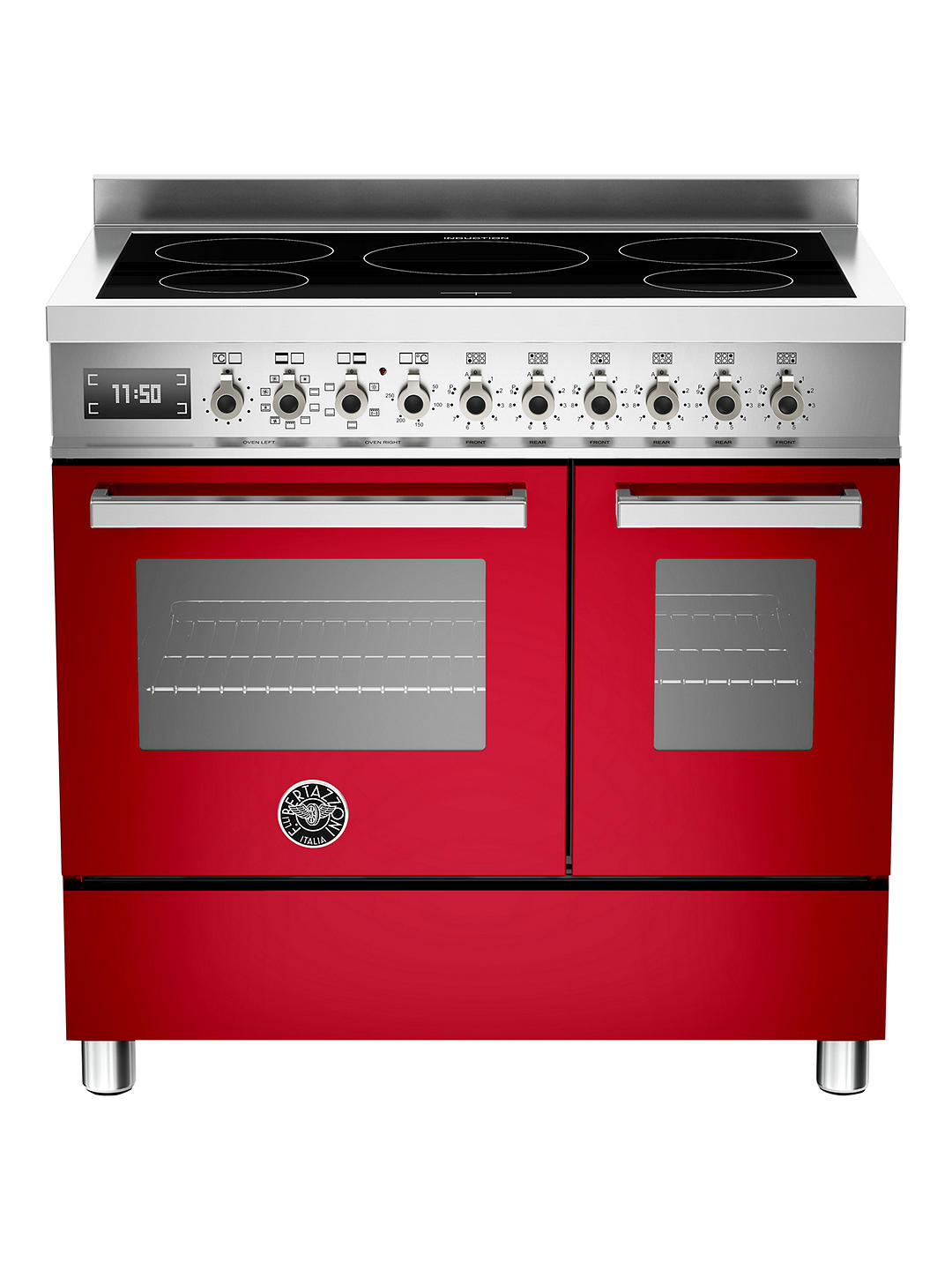 Buy Bertazzoni Professional Series PRO90-5I-MFE-D-ROT 90cm Electric Induction Twin Range Cooker Online at johnlewis.com