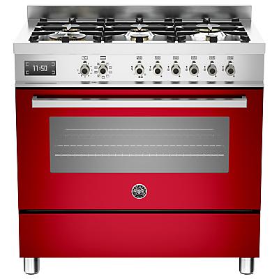 Image of Bertazzoni Professional Series 90cm Dual Fuel Single Range Cooker