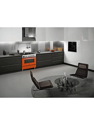 Buy Bertazzoni Professional Series PRO90-6-HYB-S-ART 90cm Dual Energy Single Range Cooker, Orange Online at johnlewis.com