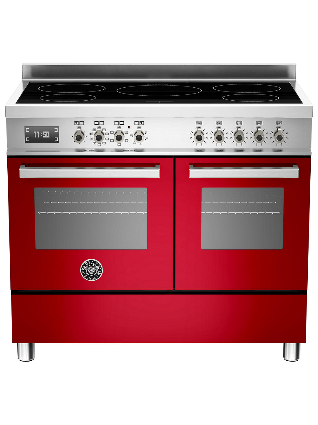 Buy Bertazzoni Professional Series PRO100-5I-MFE-D-ROT 100cm Electric Induction Range Cooker, Red Online at johnlewis.com