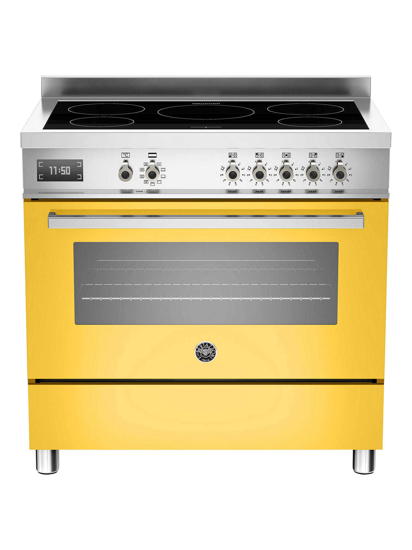BuyBertazzoni Professional Series PRO90-5I-MFE-S-GIT 90cm Electric Induction Single Range Cooker, Yellow Online at johnlewis.com
