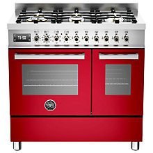 Buy Bertazzoni Professional Series 90cm Dual Fuel Twin Range Cooker Online at johnlewis.com