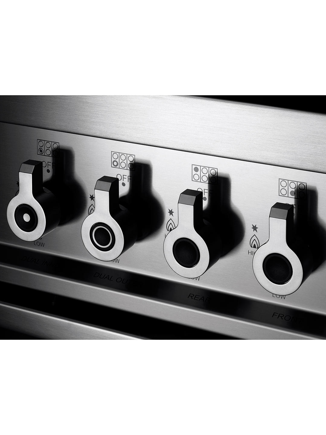 Buy Bertazzoni Professional Series PRO90-6-MFE-S-BIT 90cm Dual Fuel Single Range Cooker, White Online at johnlewis.com