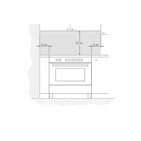 Buy Bertazzoni Professional Series 90cm Dual Fuel Single Range Cooker Online at johnlewis.com