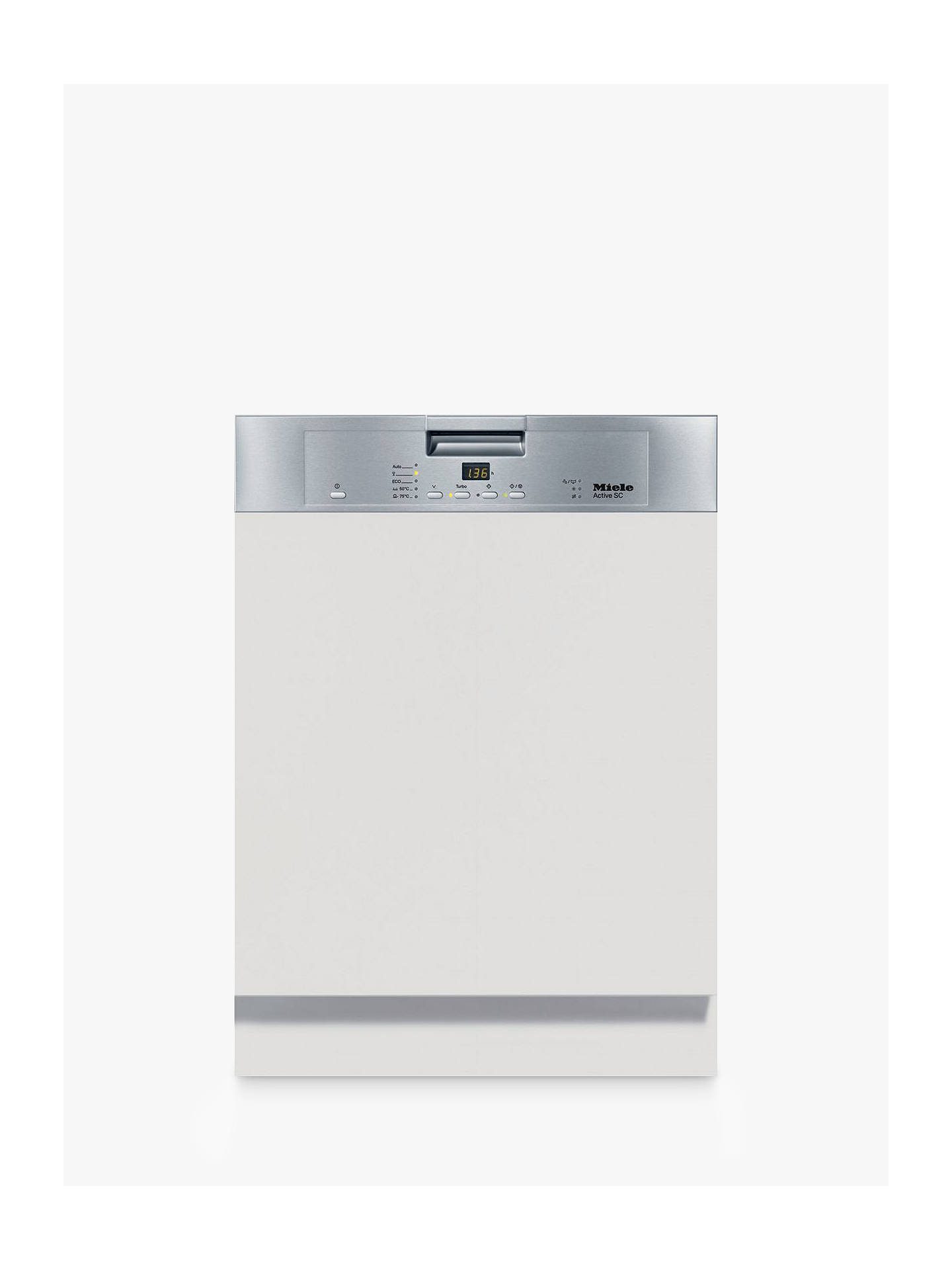 BuyMiele G4203SCi Active Semi Integrated Dishwasher, Clean Steel Online at johnlewis.com