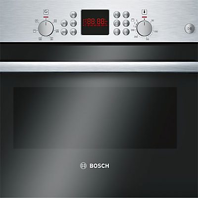 Image of Bosch Serie 6 HBC84H501B Built-In Microwave Oven with Grill, Brushed Steel