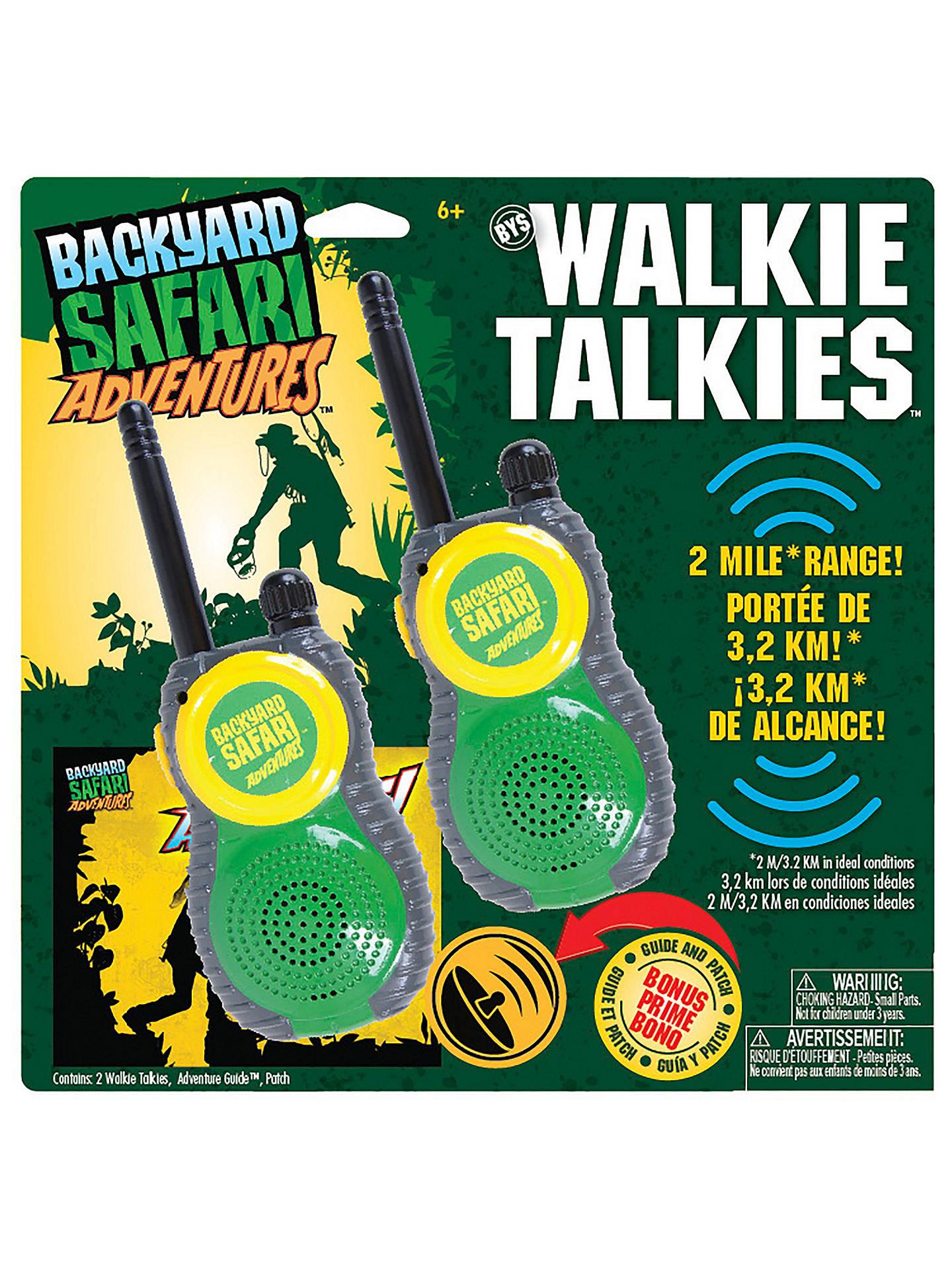 Backyard Safari Adventures Walkie Talkies At John Lewis