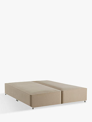 Buy John Lewis & Partners Natural Collection Pocket Spring True Edge Divan Base, FSC-Certified (Spruce, Fiberboard), Emperor, Pebble Canvas Online at johnlewis.com