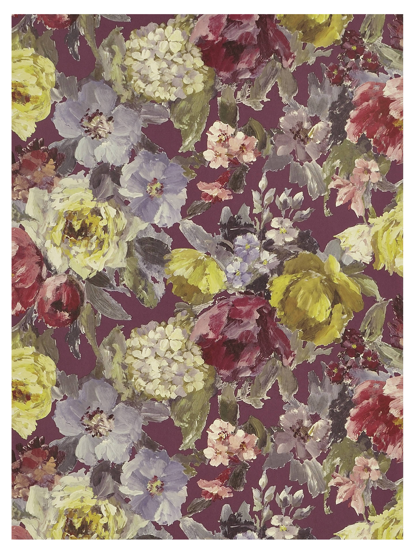 Buy Designers Guild Roseto Wallpaper, Damson, PDG675/04 Online at johnlewis.com