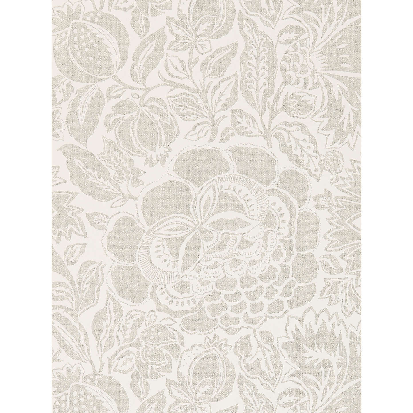 BuySanderson Poppy Damask Wallpaper, Silver, DSOH215428 Online at johnlewis.com