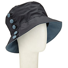 Buy Olney Waxed Cotton Button Rain Hat, Navy/Airforce Blue Online at johnlewis.com