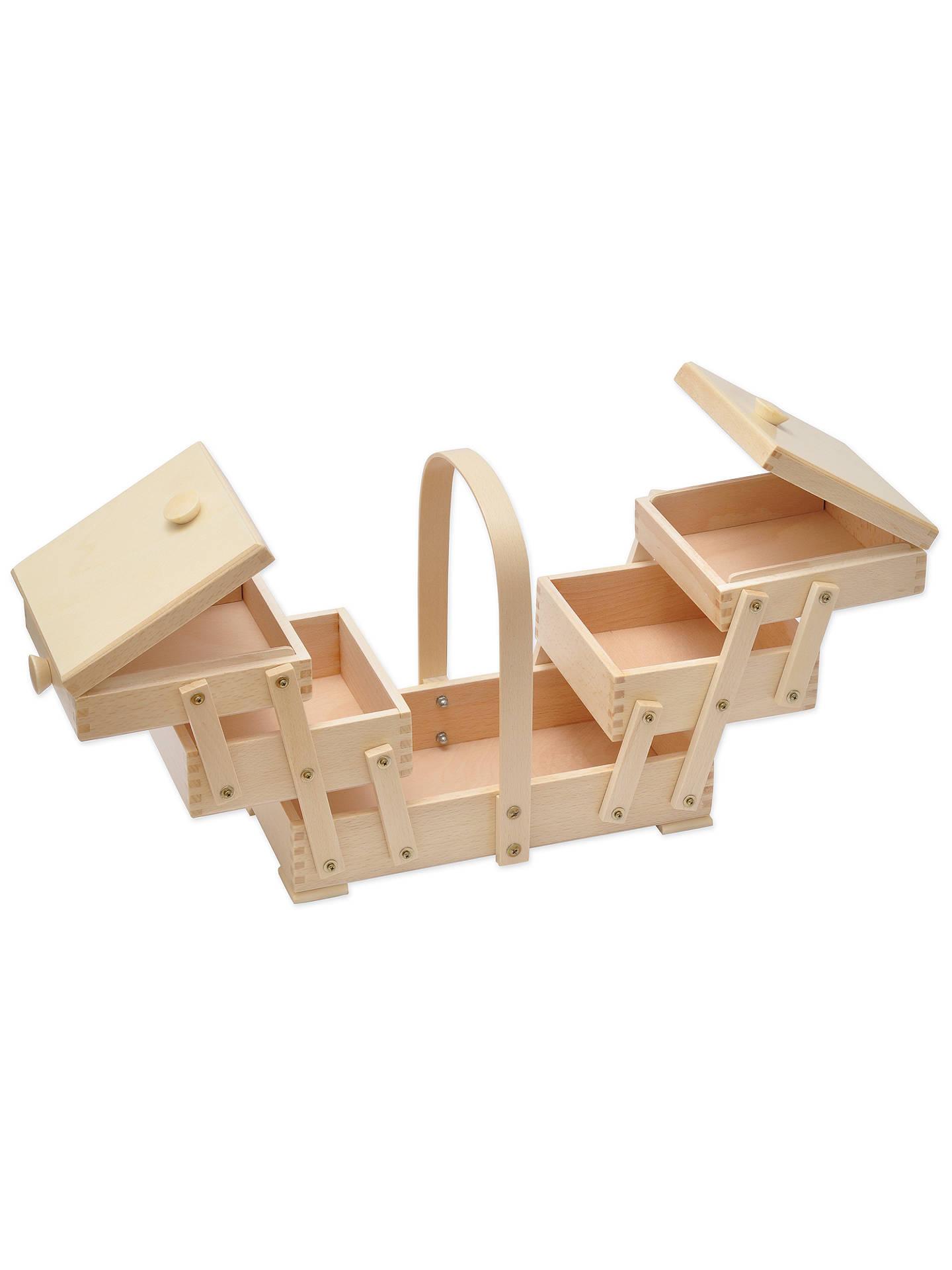 Brown Aumuller Korbwaren AUMUL Sewing Box with Beech Wood
