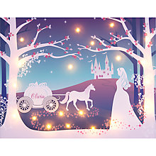 Buy Illuminated Canvas - Personalised Cinderella LED Canvas, 60 x 40cm Online at johnlewis.com