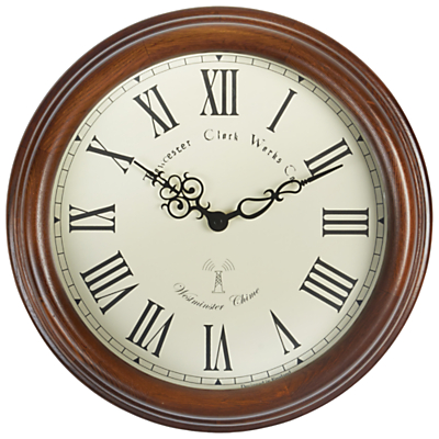 Acctim Lacock Towchester Radio Controlled Wall Clock, Dia.39cm, Brown