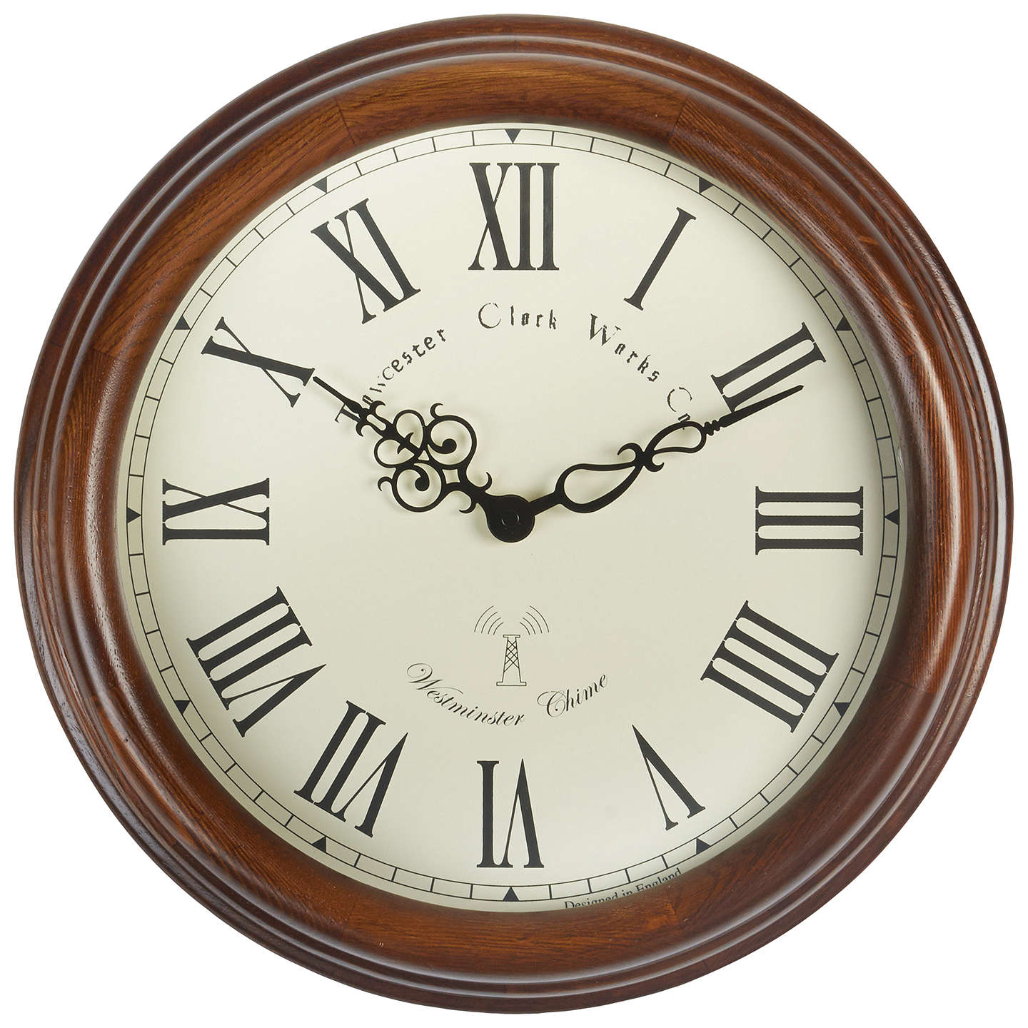 BuyAcctim Lacock Towchester Radio Controlled Wall Clock, Dia.39cm, Brown  Online At Johnlewis ...