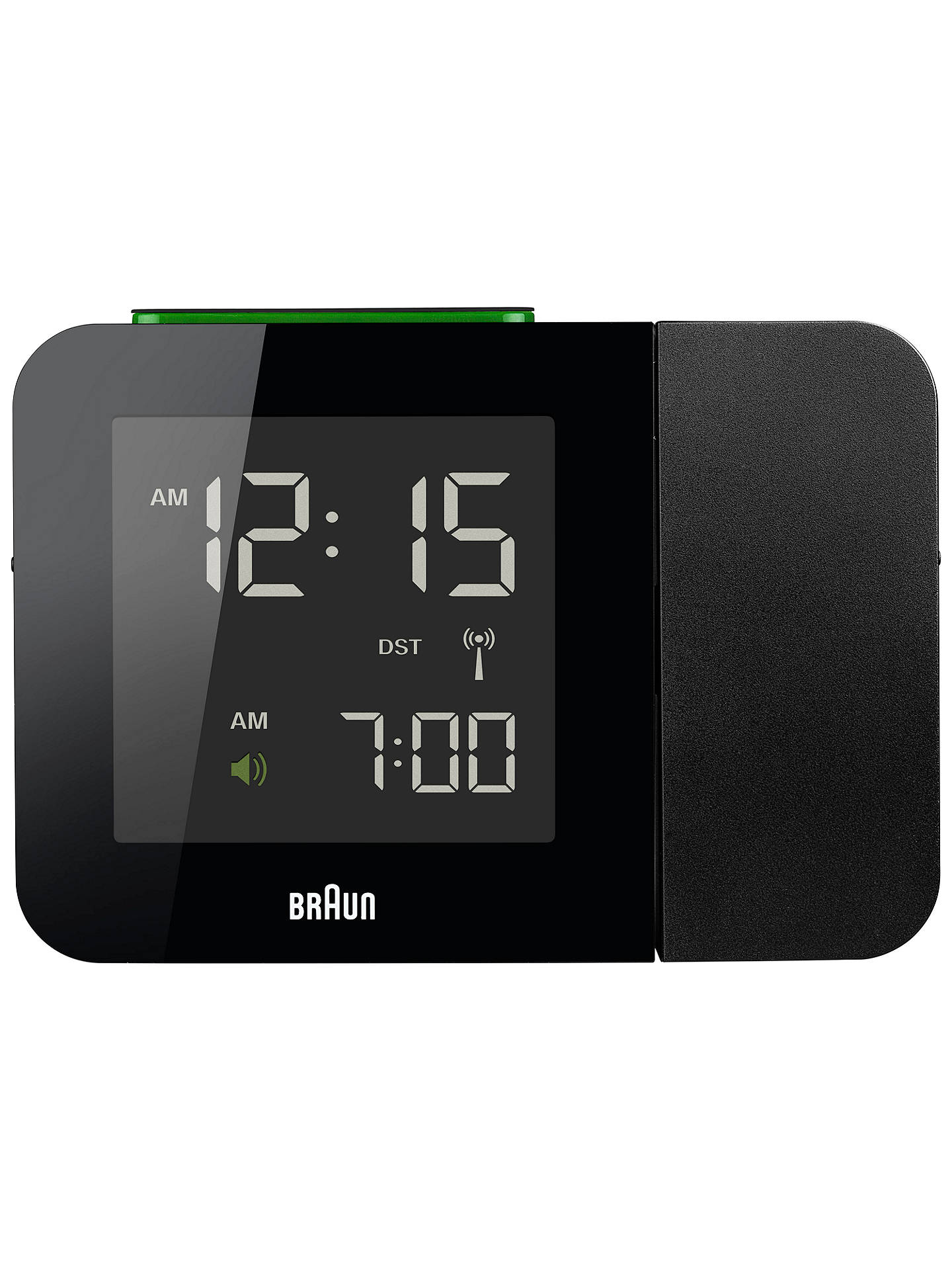 BuyBraun Projection Radio Controlled Alarm Clock, Black Online at johnlewis.com