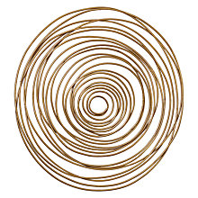 Buy Libra Swirl Wall Art Sculpture, Gold Online at johnlewis.com