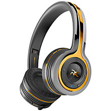 Buy Monster ROC Sport Freedom Wireless On-Ear Headphones With Built-In Mic, Total Noise Isolation & Carry Case, Black Online at johnlewis.com