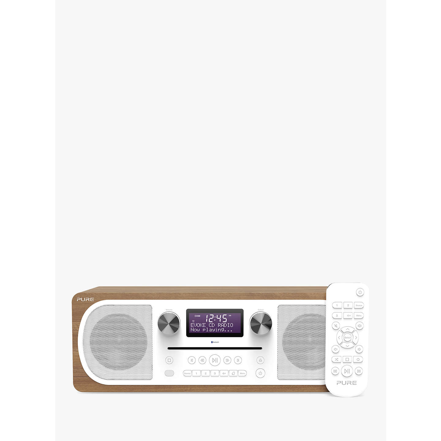 BuyPure Evoke C-D6 DAB+/FM Bluetooth Stereo All-In-One Music System With Remote Control, Walnut Online at johnlewis.com