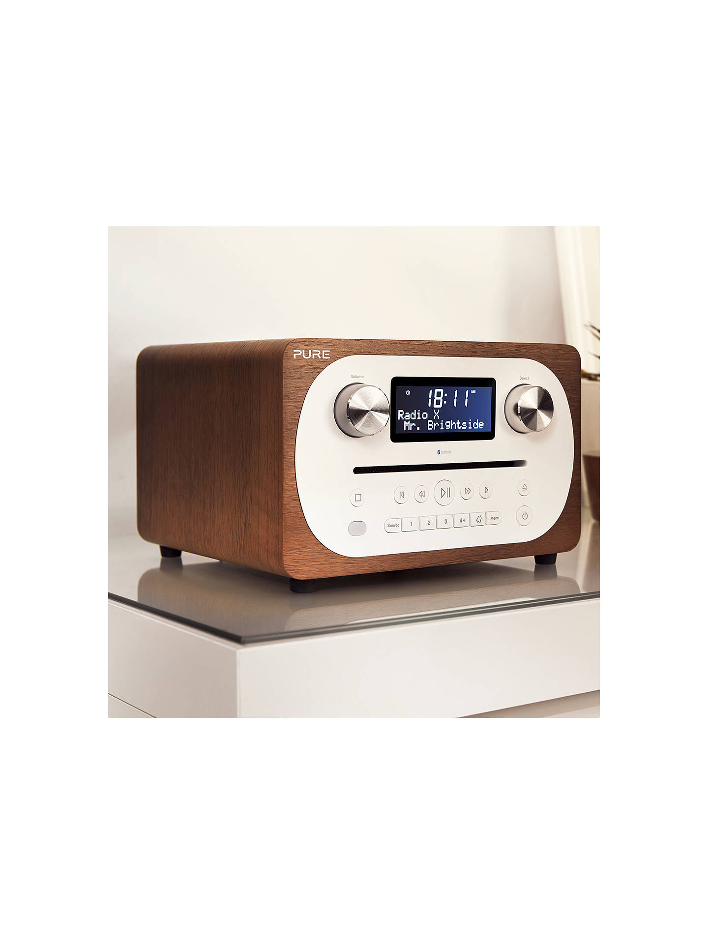 BuyPure Evoke C-D4 DAB+/FM Bluetooth Compact All-In-One Music System With Remote Control, Walnut Online at johnlewis.com