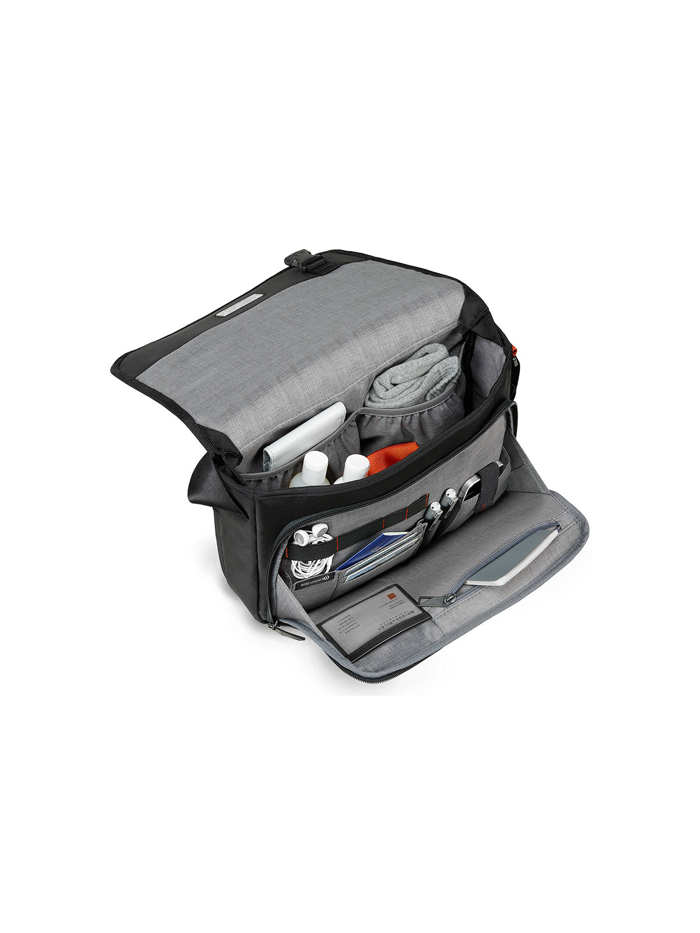 BuyBriggs & Riley Verb Instant Messenger Bag, Black Online at johnlewis.com