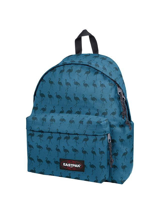 Buy Eastpak Padded Pak'r Bird Stamp Backpack, Blue Online at johnlewis.com