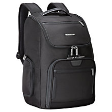 Buy Briggs & Riley Large U-Zip Backpack, Black Online at johnlewis.com