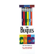 Buy Galison The Beatles 1964 Collection Pencil Set, Pack of 8 Online at johnlewis.com
