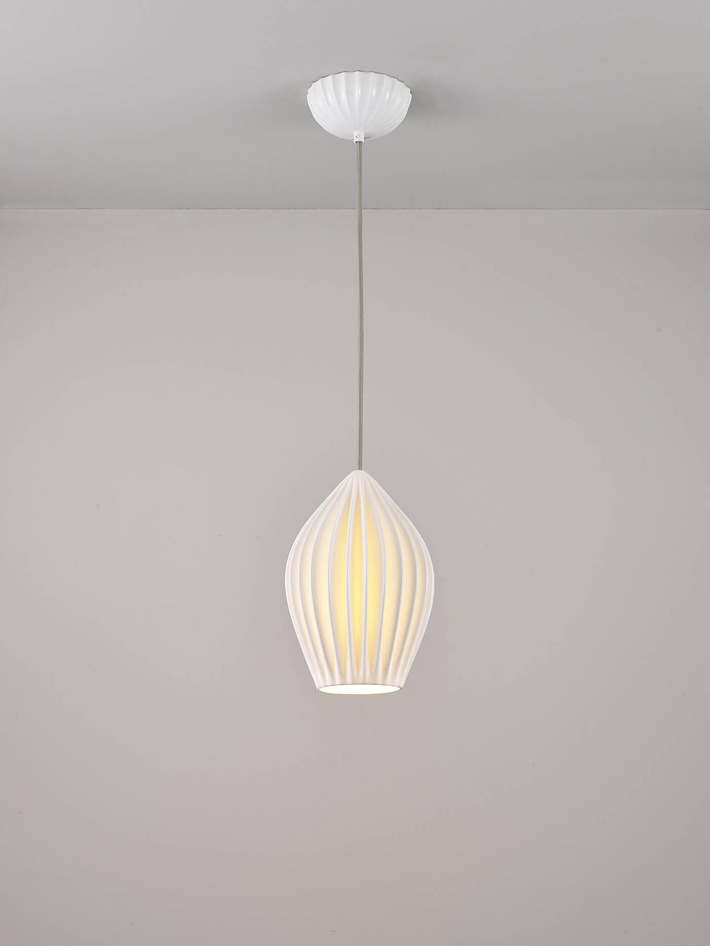 Original Btc Fin Large Pendant Light White Online At Johnlewis