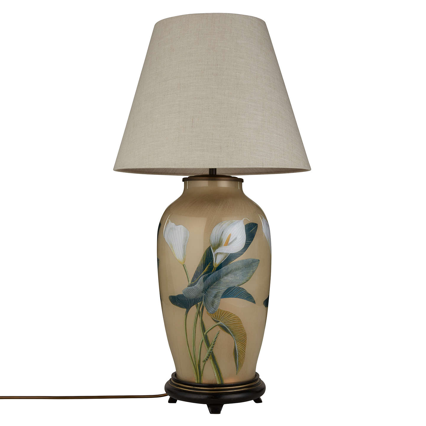 BuyJenny Worrall Tall Urn Arum Lily Lamp Base Online at johnlewis.com