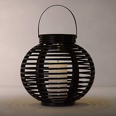 John Lewis Cabot Lattice Outdoor Solar Lantern, Medium