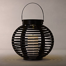 Buy John Lewis Cabot Lattice Outdoor Solar Lantern, Medium Online at johnlewis.com