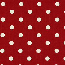 Buy Linen Look Polka Dot Print Fabric Online at johnlewis.com