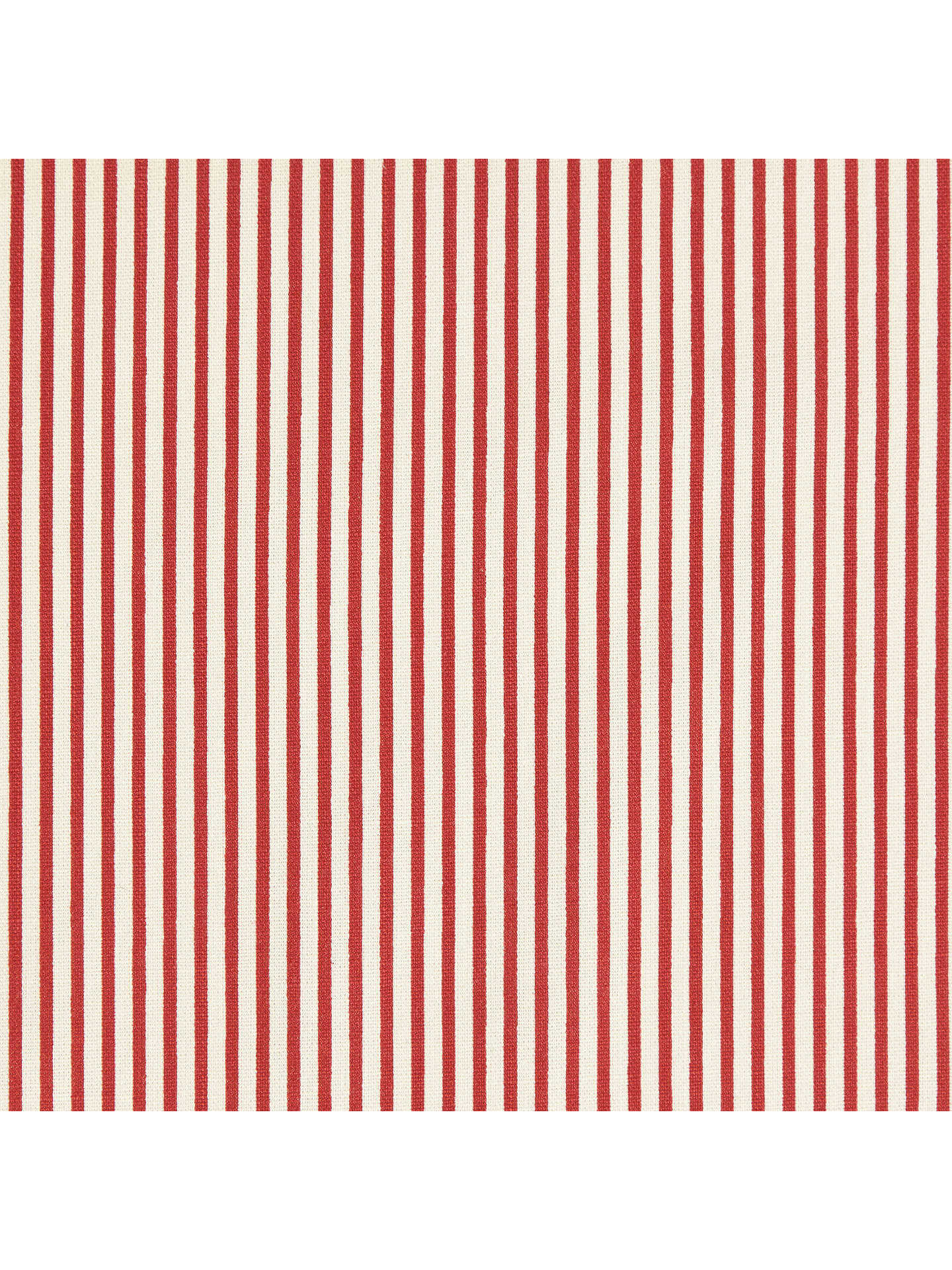 Cotton Stripe Fabric Redwhite At John Lewis Partners