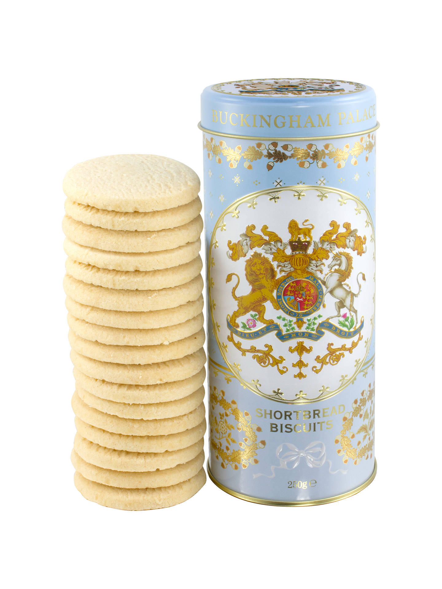 Royal Collection Georgian Shortbread Tin Biscuits Blue