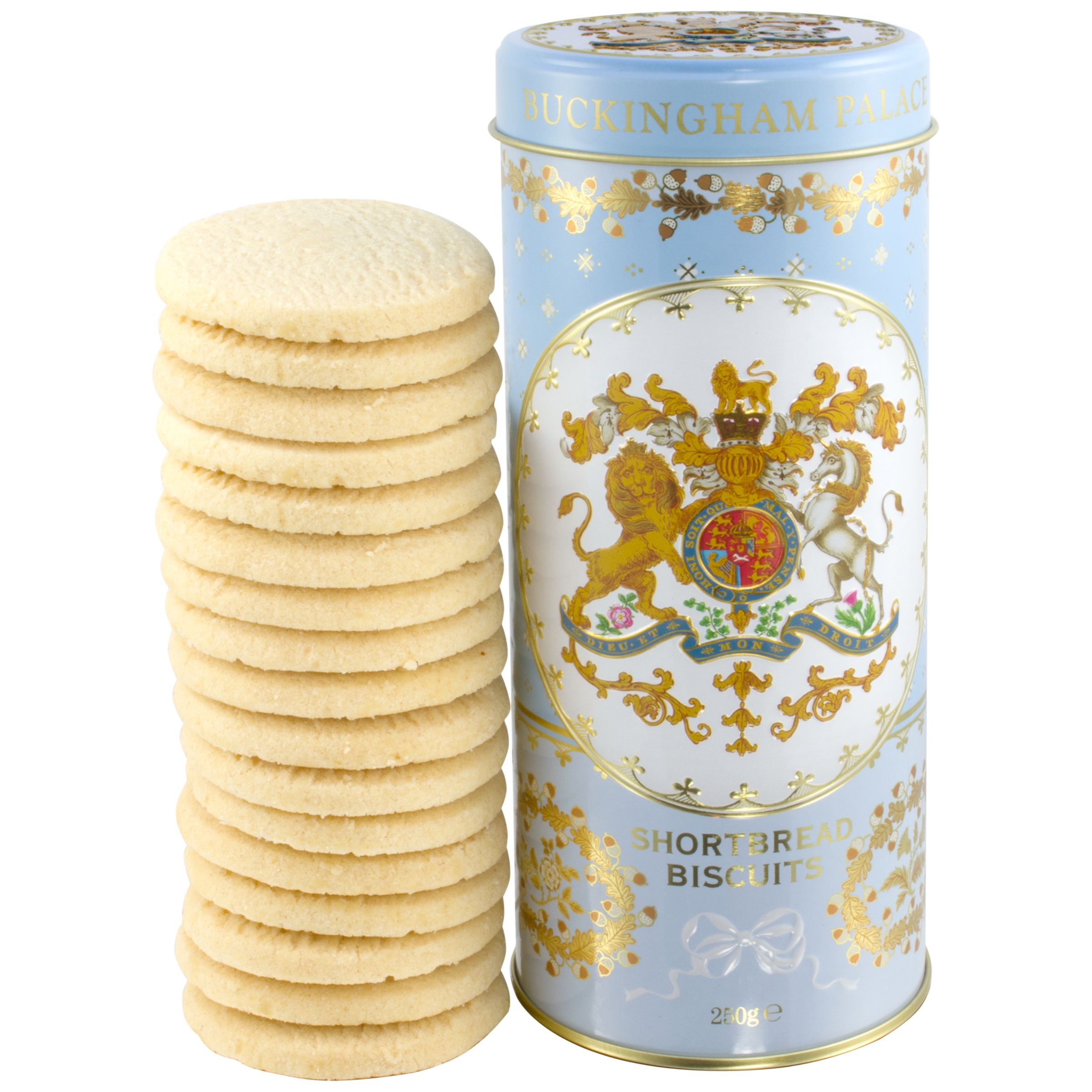 Royal Collection Royal Collection Georgian Shortbread Tin & Biscuits, Blue