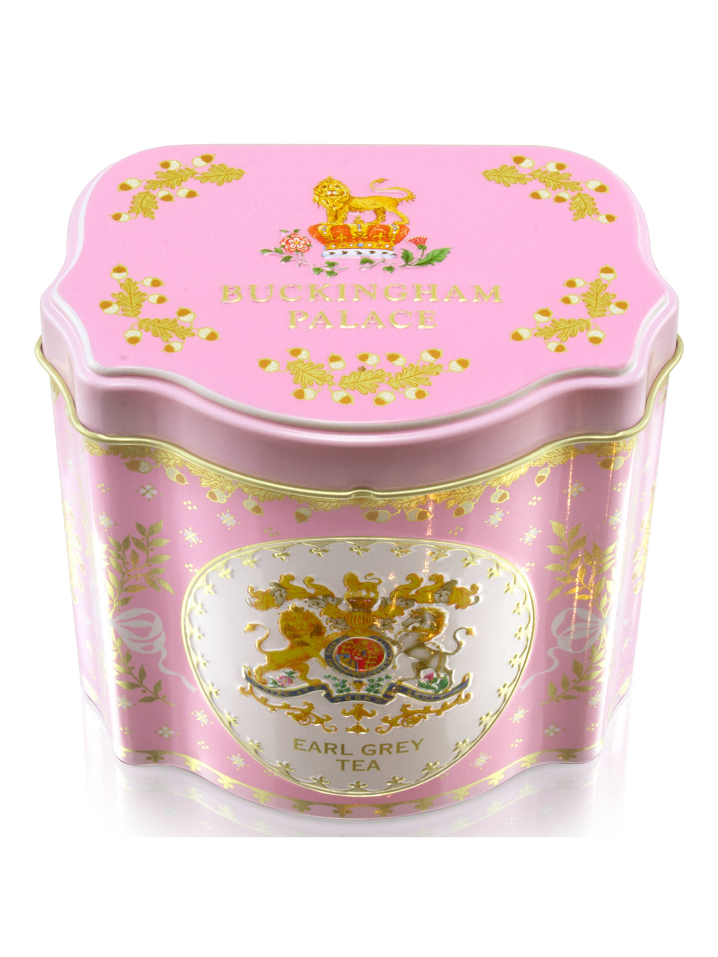Buy Royal Collection Georgian Tea Caddy with 50 Tea Bags (Variety), Pink Online at johnlewis.com