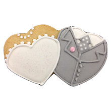 Buy Little Bee Bakery Mini Bride And Groom Duo Iced Biscuits Online at johnlewis.com