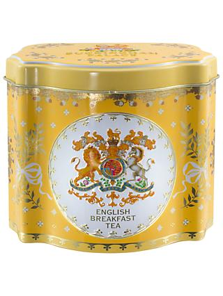 Royal Collection Georgian Tea Caddy With 50 Bags Variety Yellow
