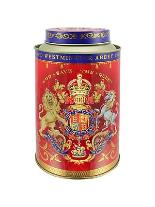Royal Collection Coronation Tea Caddy with 50 Royal Blend Tea Bags
