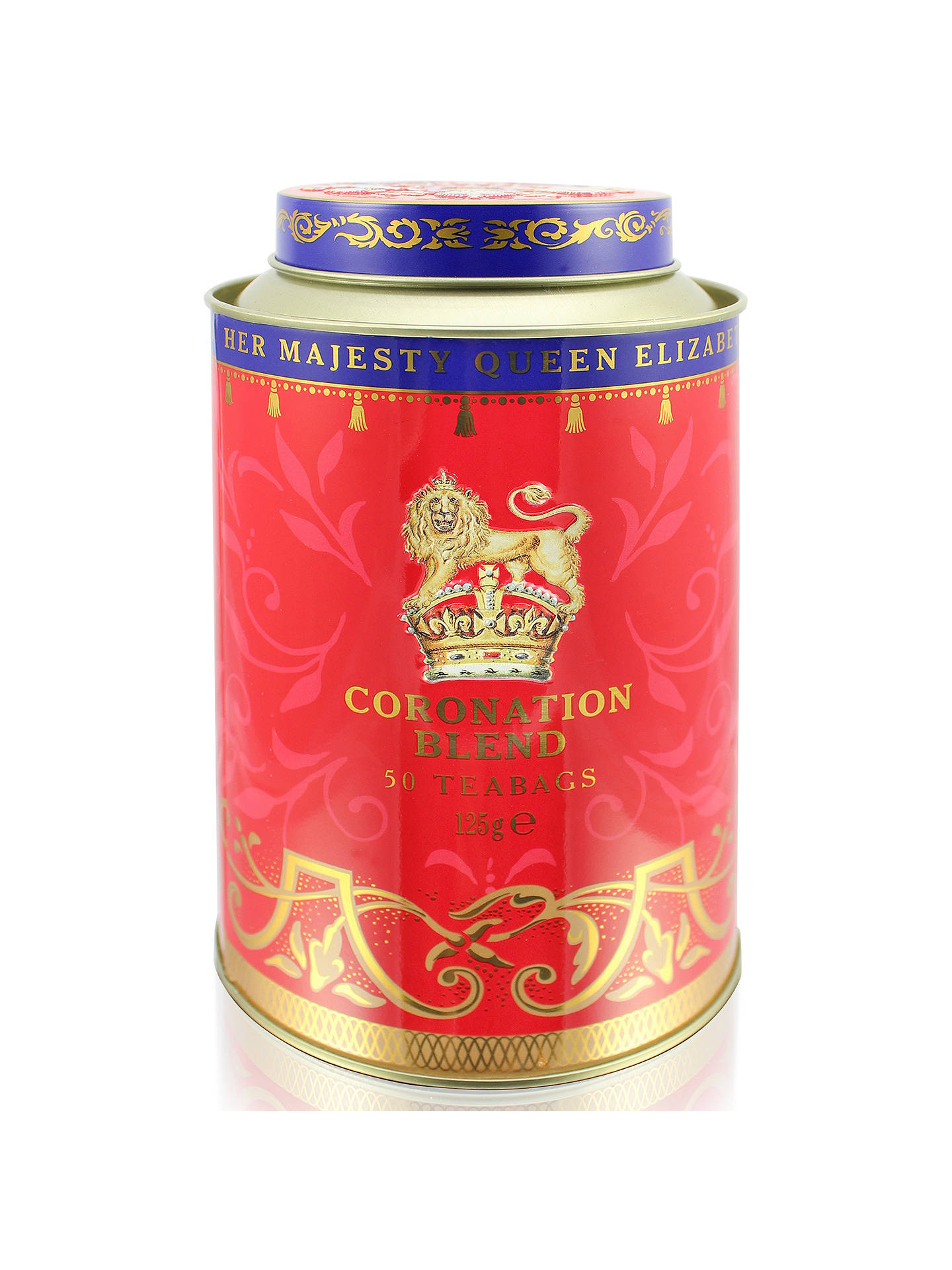 BuyRoyal Collection Coronation Tea Caddy with 50 Royal Blend Tea Bags Online at johnlewis.com