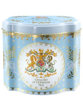 Royal Collection Georgian Tea Caddy with 50 Tea Bags (Variety), Blue