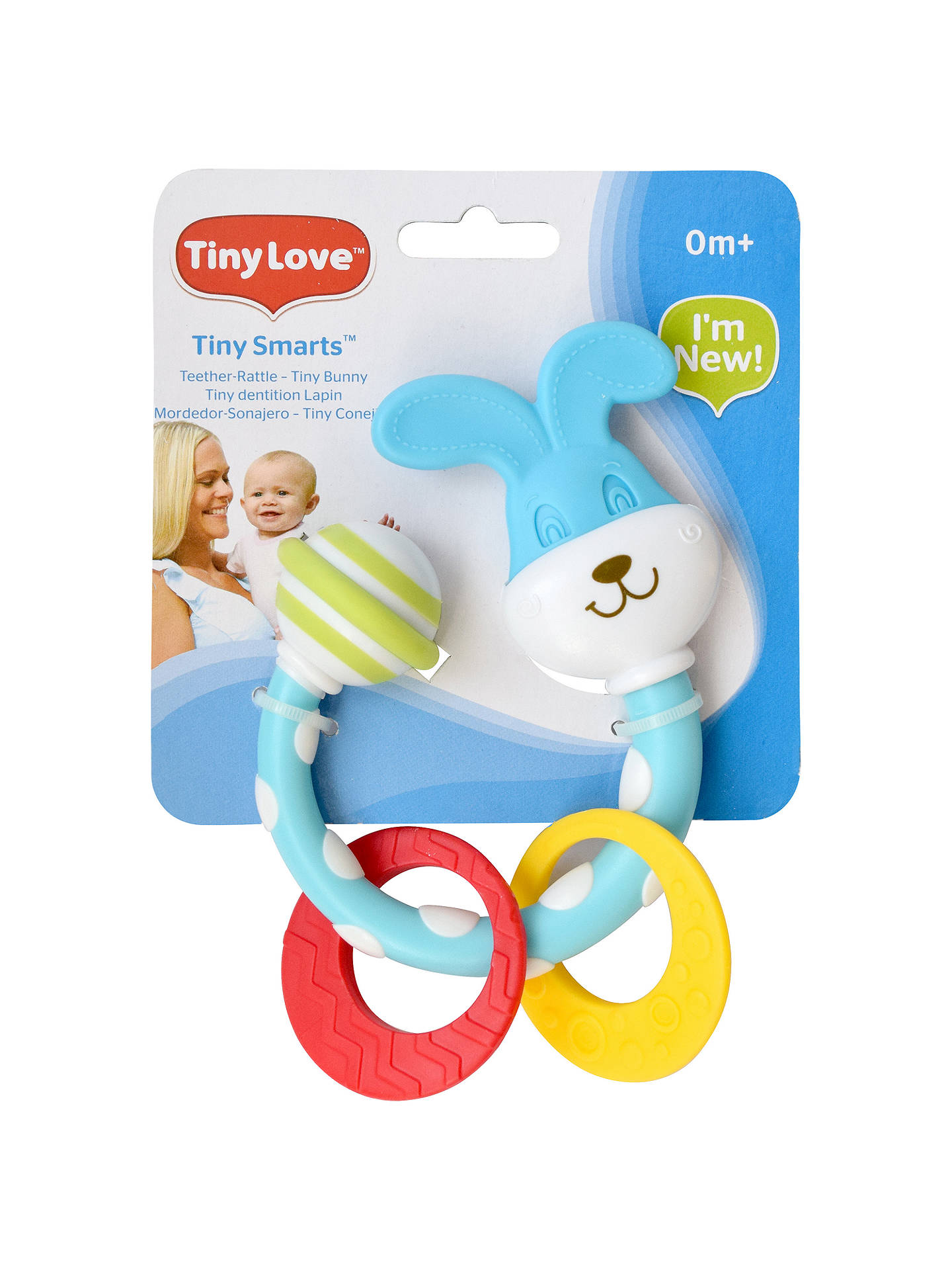 Buy Tiny Love First Stage Tiny Bunny Baby Teether Rattle, Multi Online at johnlewis.com