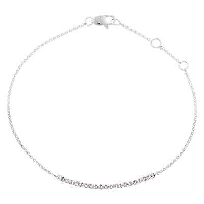 London Road 9ct White Gold Portobello Geo Diamond Bracelet, White Gold