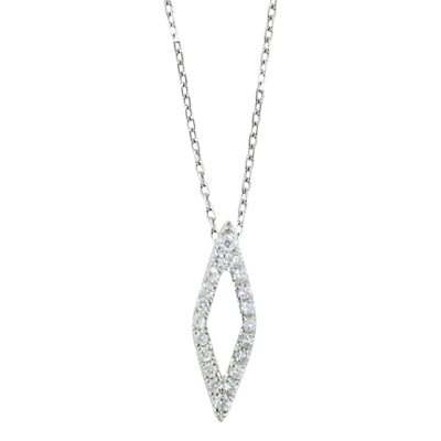 Product photo of London road 9ct white gold portobello geo diamond pendant white gold