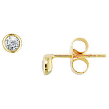 Buy London Road 9ct Gold Portobello Raindrop Diamond Stud Earrings Online at johnlewis.com