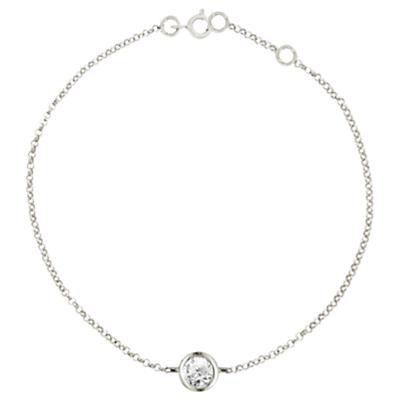 London Road 9ct Gold Portobello Raindrop Diamond Bracelet
