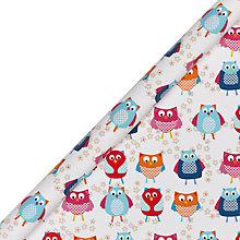 Buy John Lewis Owl Bright Wrapping Paper Online at johnlewis.com