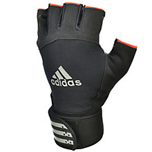 Buy Adidas Weightlifting Gloves, Black Online at johnlewis.com