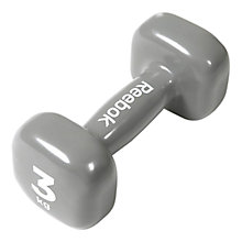 Buy Reebok 3kg Dumbbell, Grey Online at johnlewis.com